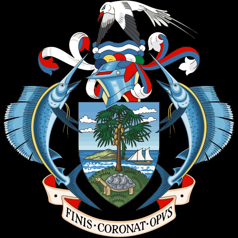 Logo Gambar Lambang Simbol Negara Seychelles PNG JPG ukuran 800 px