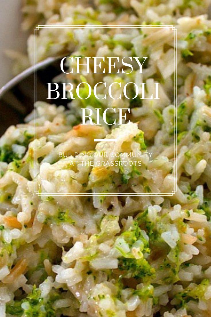 #Cheesy #Broccoli #Rice