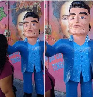 La cachetada de Eduardo Yáñez ya es piñata. Ahora para Halloween