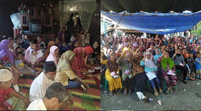 Empat Desa Ini, Antusias Sambut Kedatangan Paslon Shinta-Suryadi