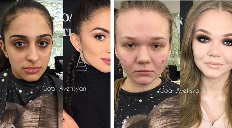 Wow....Kok Bisa Beda Banget Yah, Para Wanita Ini Setelah di Makeup