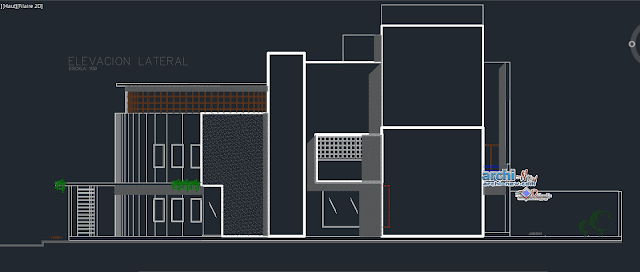 Family house 4 floors in AutoCAD