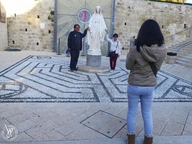 statue of Mother Mary in Nazareth