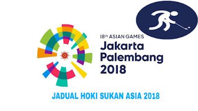 Jadual dan Keputusan Hoki Padang Sukan Asia 2018