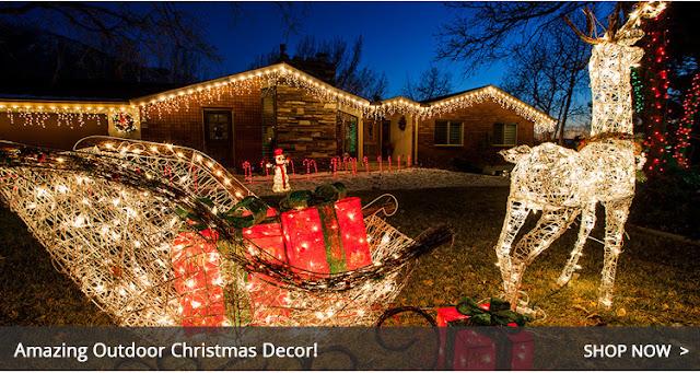 Santa Claus's reindeer ready to go