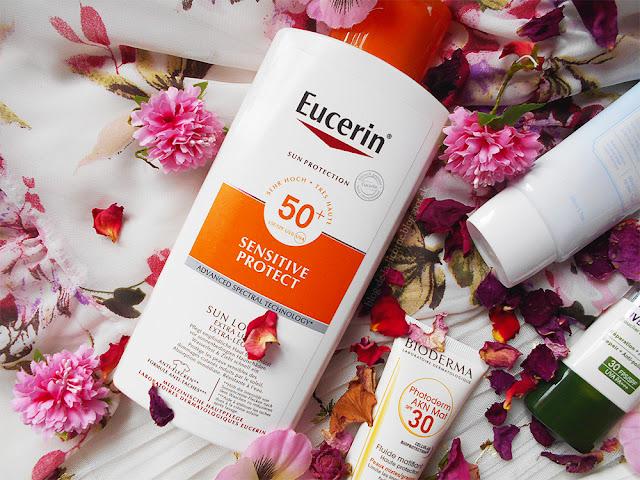 Eucerin Sensitive Protect SPF50+ opaľovacie mlieko recenzia