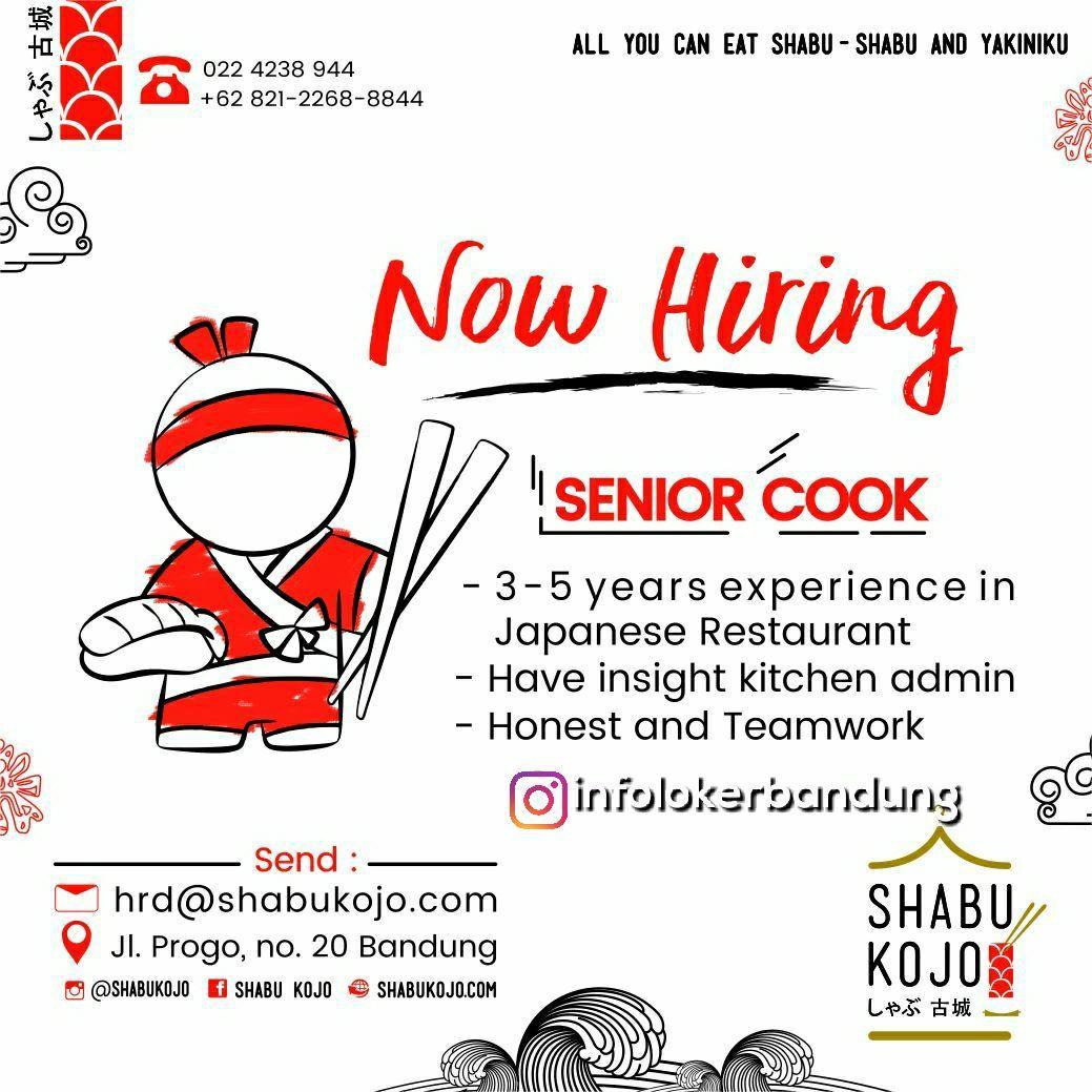 Lowongan Kerja Shabu Kojo Japanese Resto Bandung Desember 2017