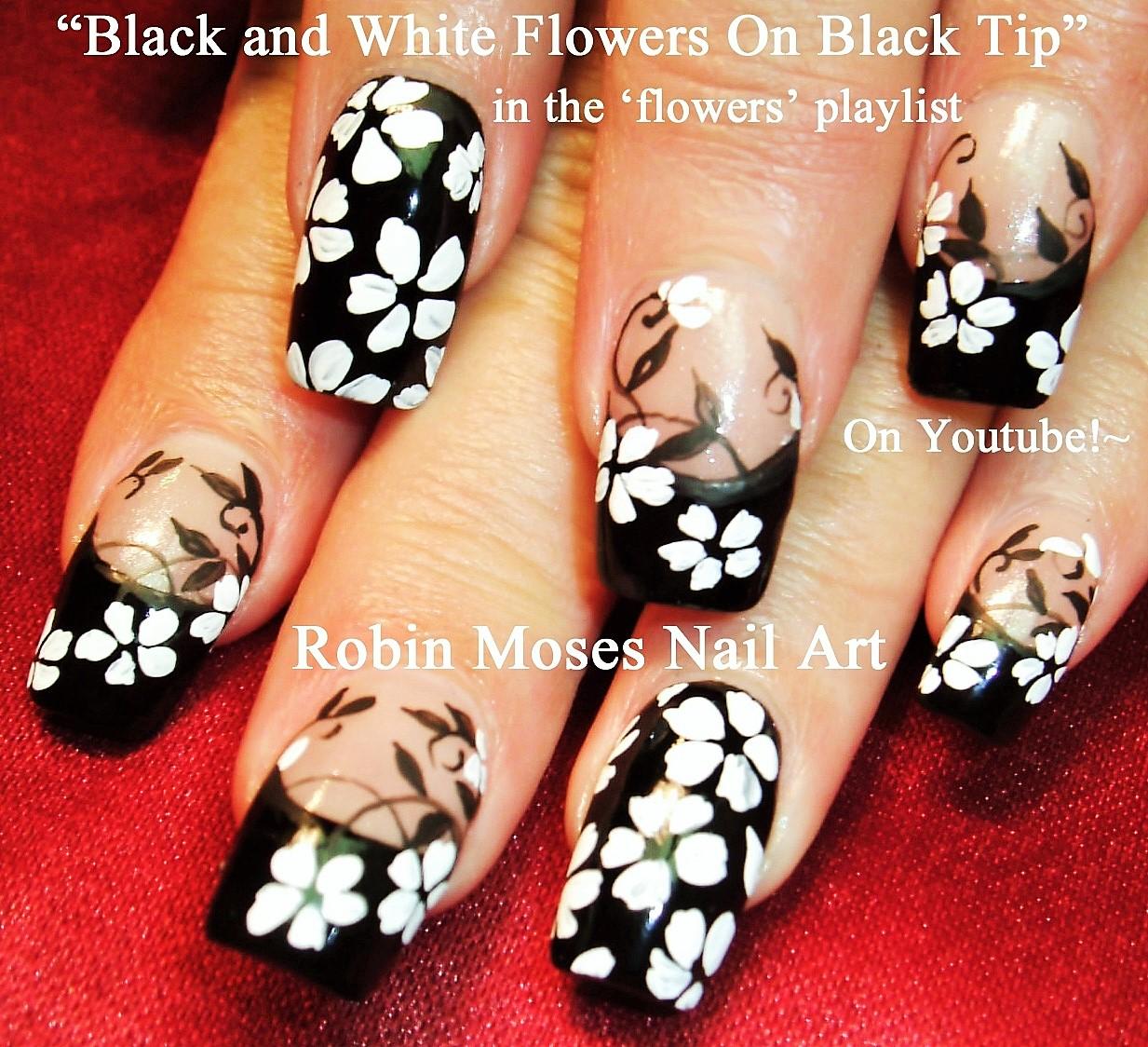 Nail Art by Robin Moses: Black and White Nail Art Design Tutorials ...