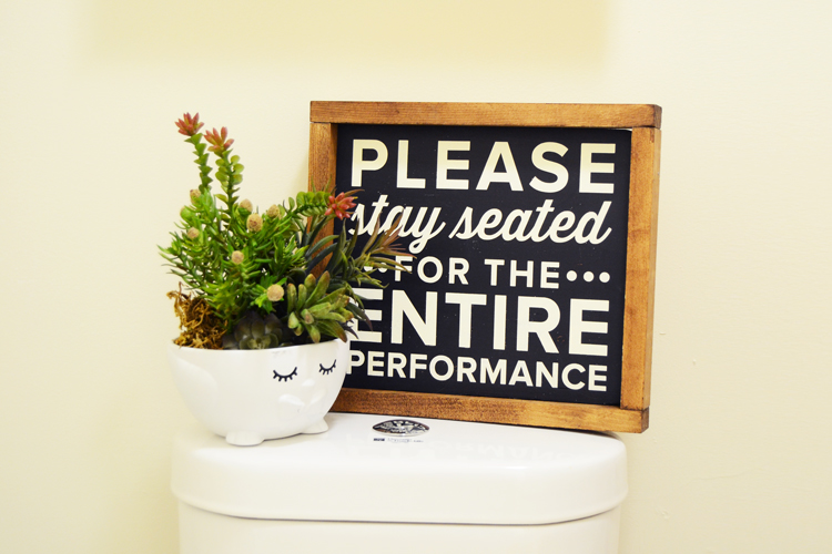 bathroom sign diy decor