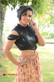 Actress Chetana Uttej Stills in Floral Long Skirt at Pichiga Nachav Movie Press Meet  0028.JPG