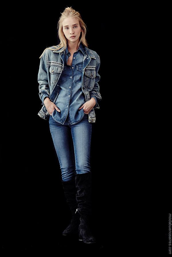 Moda jeans invierno 2018.
