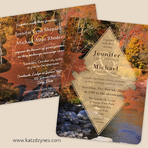 Autumn Creek Rustic Fall Wedding Invitations And Collection From Katzdzynes