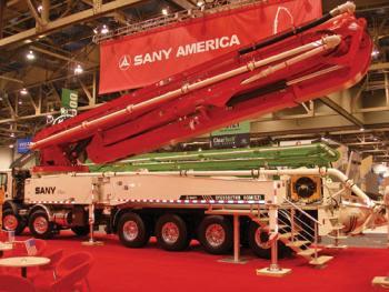 Máy bơm bê tông gắn trên xe tải Sany 46M / 60M