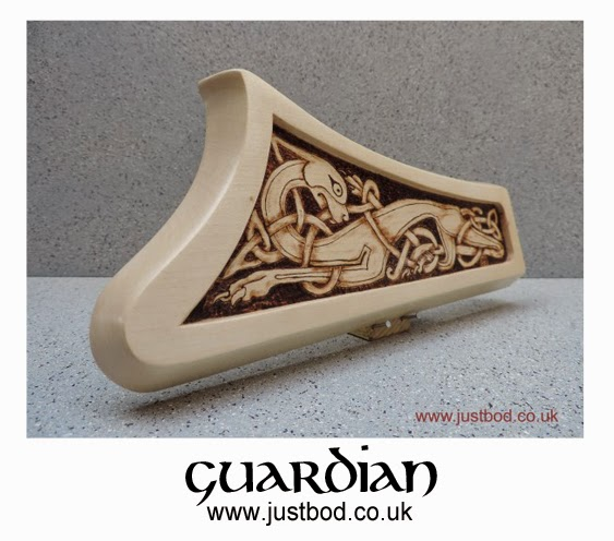 Hand burnt / pyrographed Guardian Celtic wall plaque