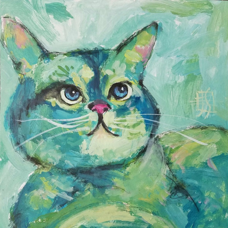 cat #12 by joanie springer 30 cats in 30 days