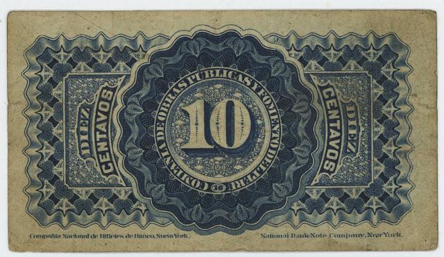 Peru 10 Sentavos Meiggs banknote