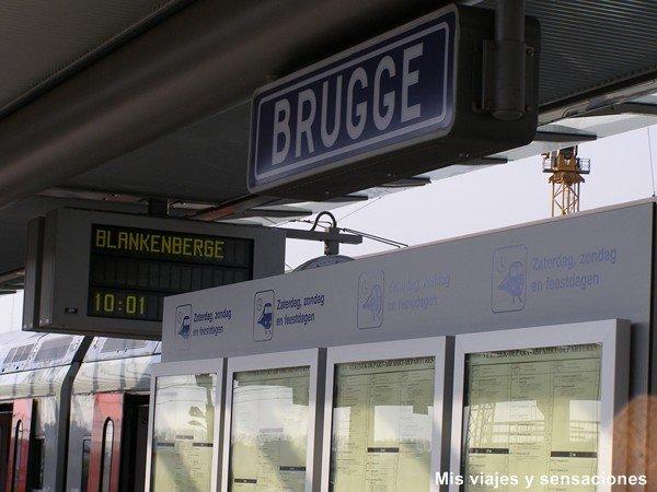 estación de tren de Brujas, Bélgica