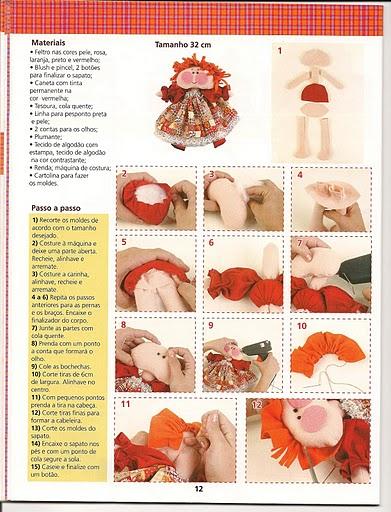 Revista+feltro+compartilhar+008 - molde boneca de feltro