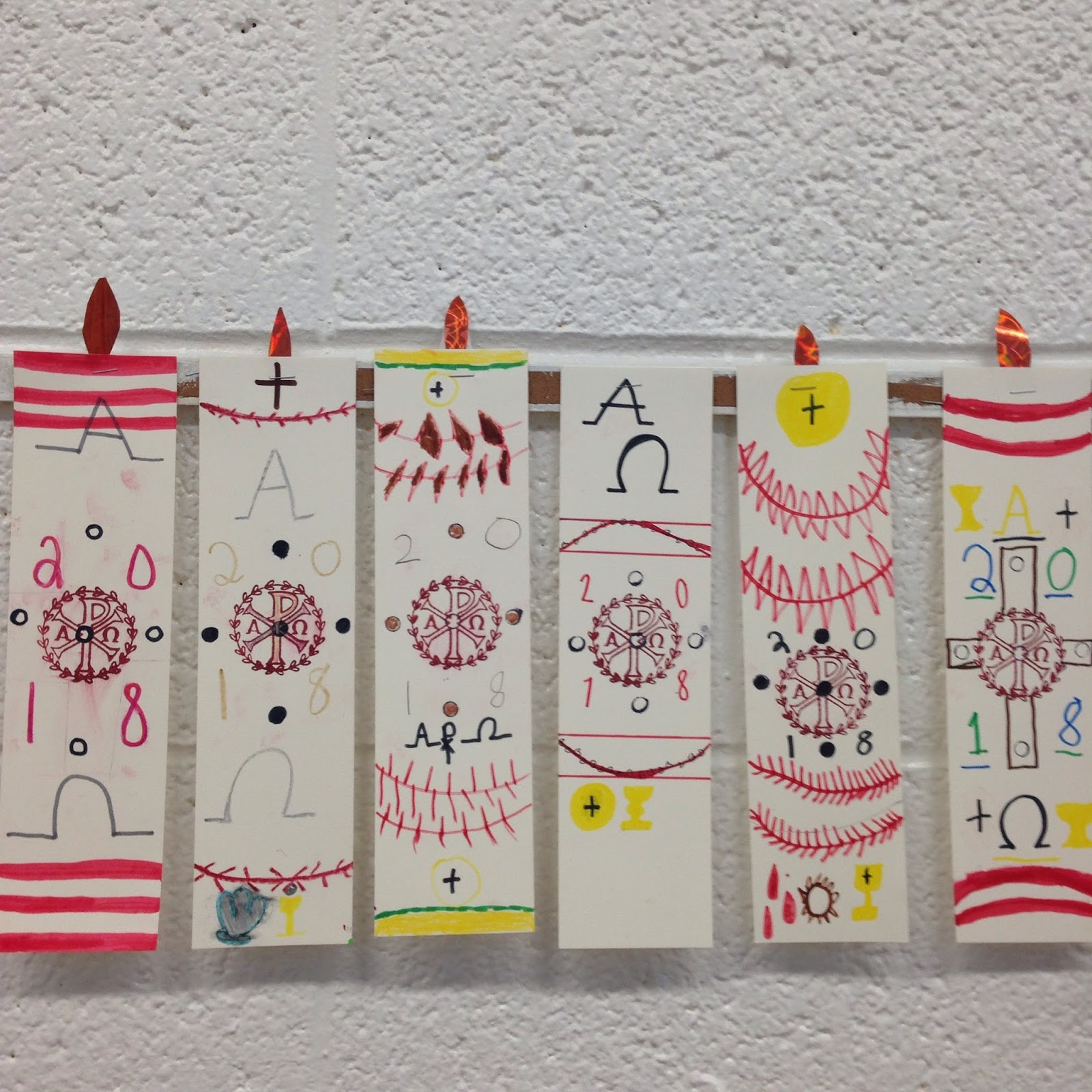 Look To Him And Be Radiant Paschal Candle Craft For Kids