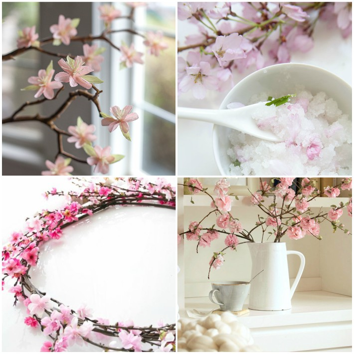 4 diy cerezo en flor