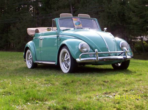 1962 VW Beetle Karmann Convertible