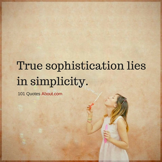 """Simplicity Quotes"""