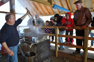 Maple syrup production at Ambler Farm