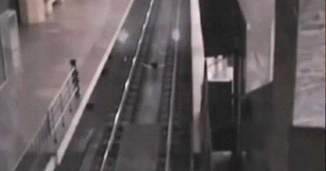 Κάμερα κατέγραψε τρένο-φάντασμα να κάνει στάση σε σταθμό στην Κίνα