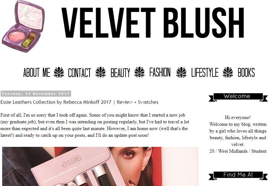 Velvet Blush Blog