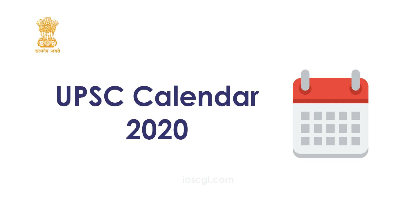 UPSC Calendar 2020
