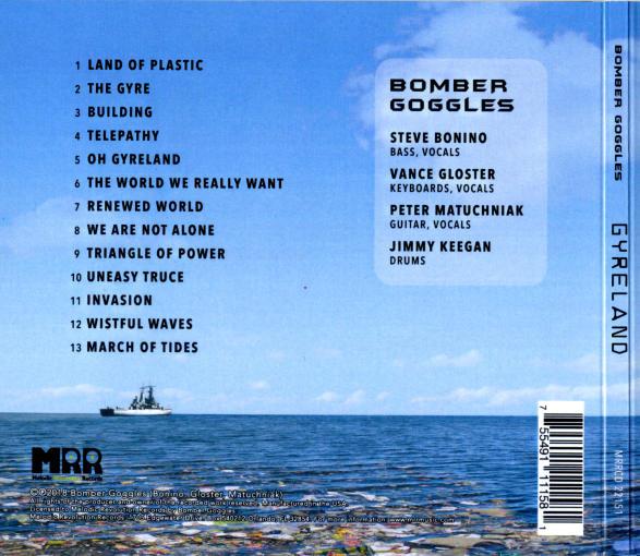 BOMBER GOGGLES - Gyreland [digipak] (2018) back