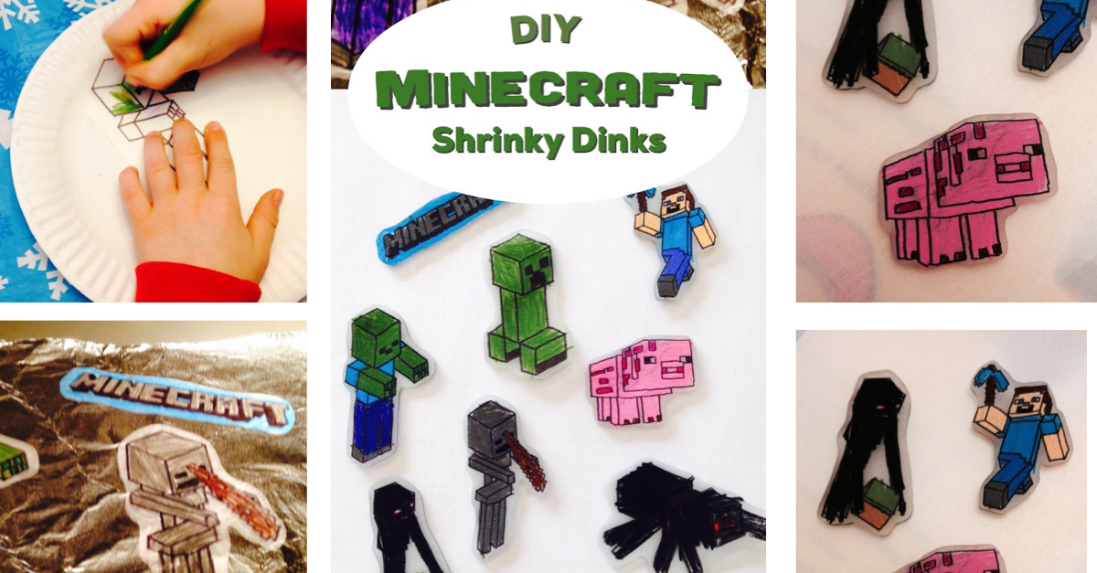 Minecraft Projects For Kids Diy Minecraft Shrinky Dinks The