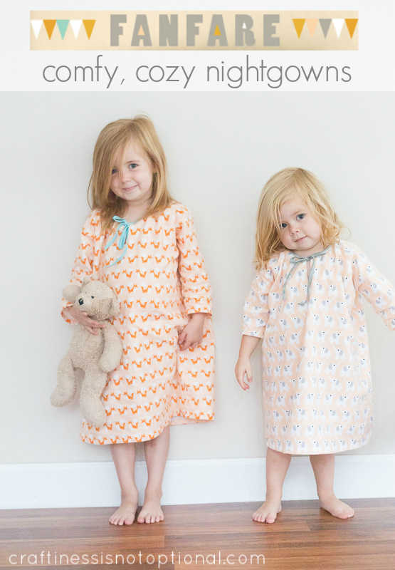 Seamingly Smitten Nightgown Sewing Pattern For Girls