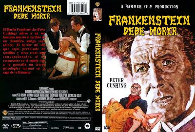 Carátula dvd: Frankenstein debe morir (El cerebro de Frankenstein) (1969)
