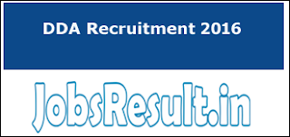 DDA Recruitment 2016