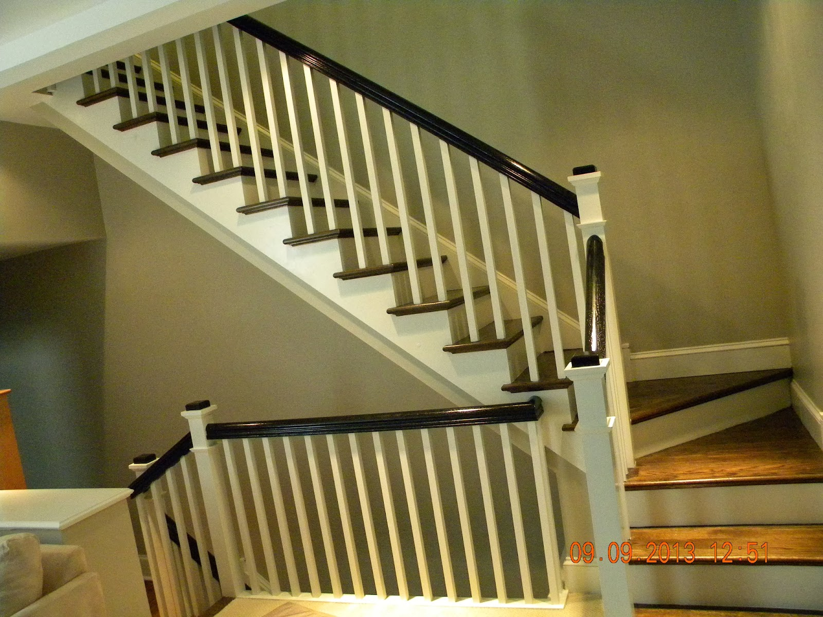 Wood Stairs and Rails and Iron Balusters: New Stairs and ...