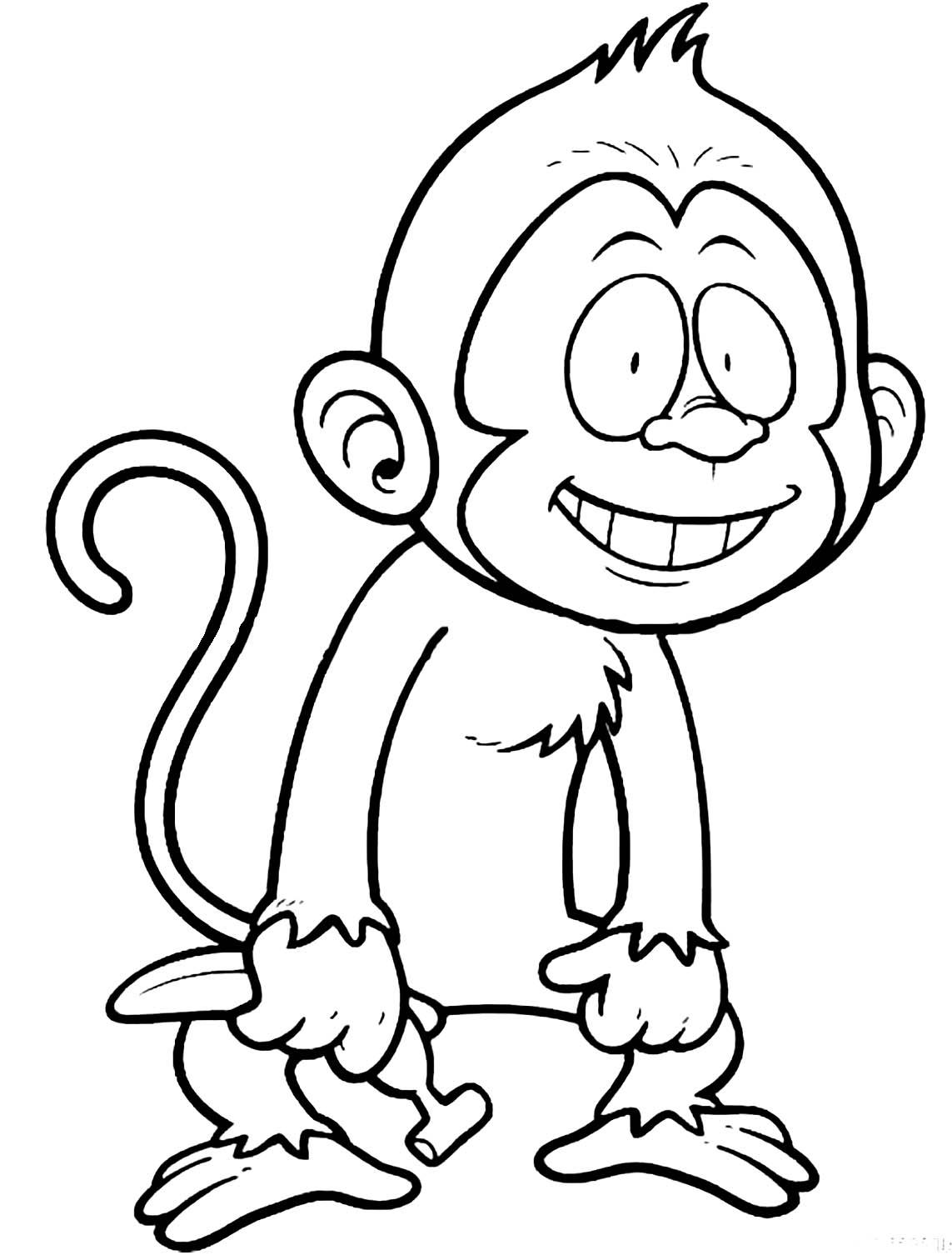 Tranh tô màu con khỉ 3
