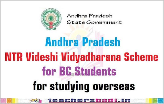 AP NTR Videshi Vidyadharana Scheme,BC Students,studying overseas