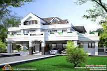 Unique Contemporary Villa Exterior Keralahousedesign