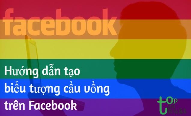 Hướng dẫn tạo biểu tượng cầu vồng trên Facebook