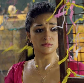 Keerthy Suresh in Pink Dress with Cute Expressions in Saamy Square