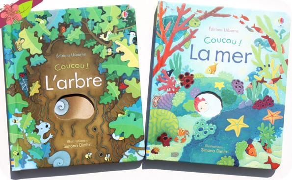 Coucou ! L'arbre et Coucou ! La mer - éditions Usborne