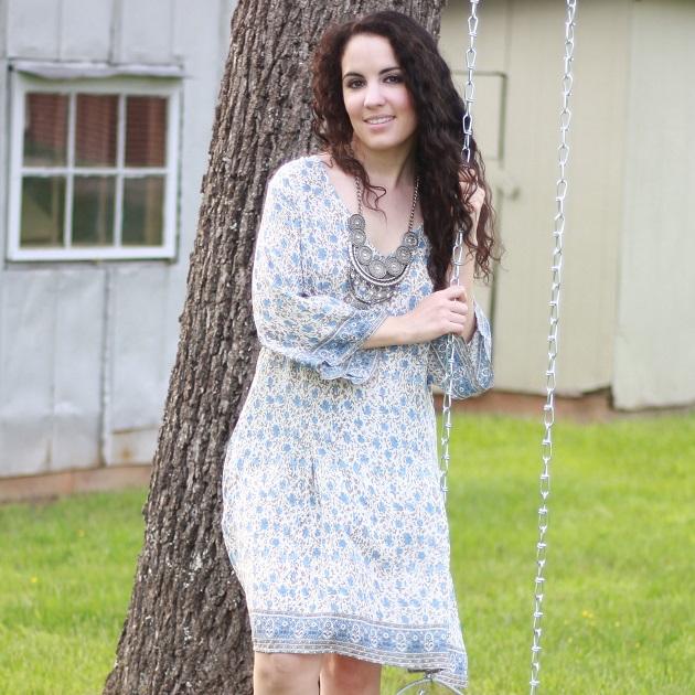 Blue Print Summer Dress