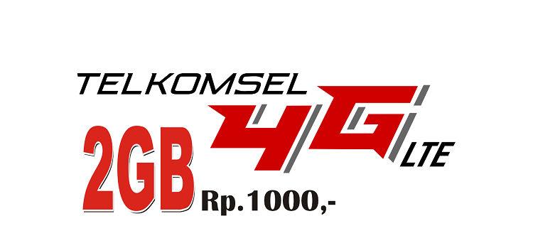 Paket Internet Telkomsel Hanya Rp. 1000 dapat 2Gb/bln