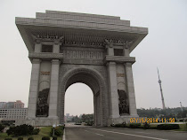 Arch of Triumph for the stalemate but declared victory of Korean War, 1950-53, Pyongyang, N Korea