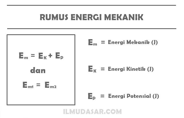 Rumus Energi Mekanik