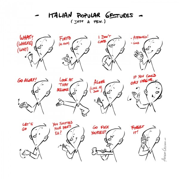 English In Italian: Locky's English Playground: Culture: Italian Popular Gestures