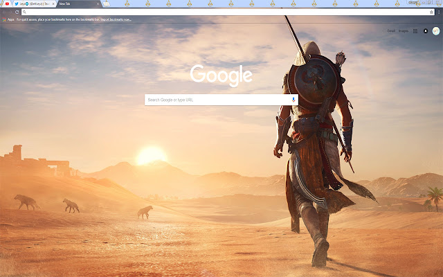 Assassins Creed Origins Bayek Free Theme FOR Chrome 2017