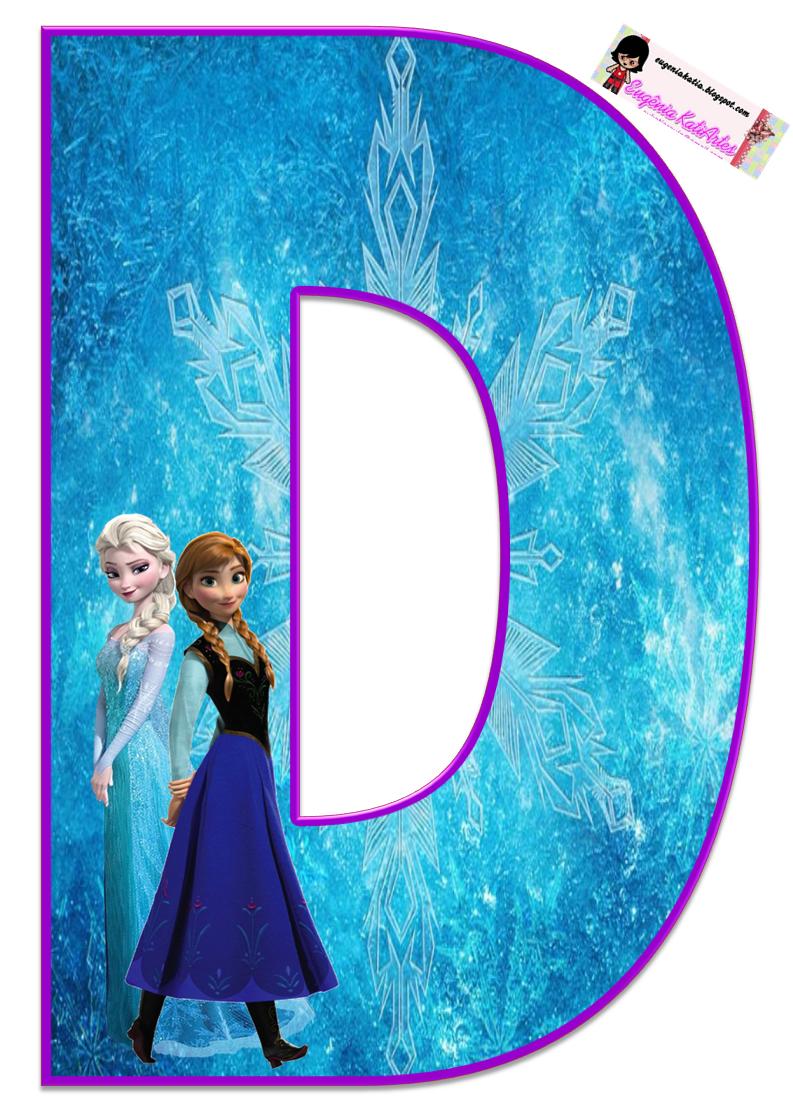 Frozen: Bello Alfabeto Gratis de Elsa y Ana. - Oh my ...