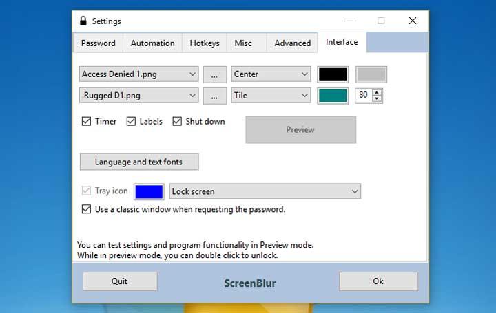 Advance Lock Screen with ScreenBlur for Windows
